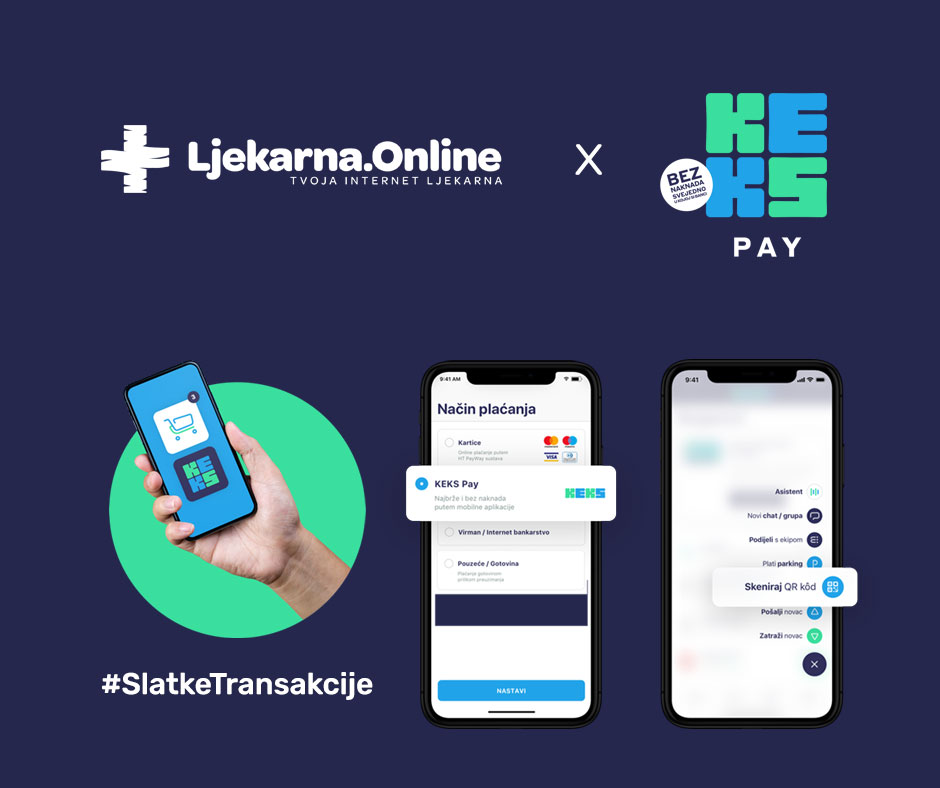 Ljekarna Online - Keks Pay Opcija Plaćanja