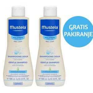 Mustela Nježni šampon DUO PACK 2x500 ml